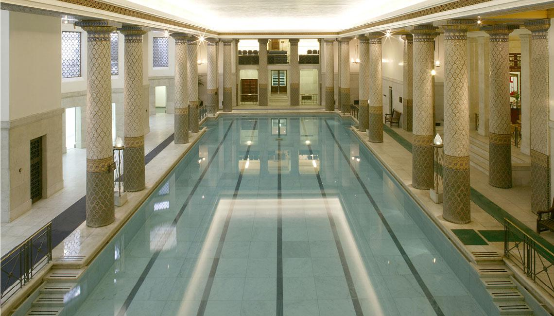 The Sports Facilities Offer A Modern Gym, Stunning Turkish Baths, Squash  Courts, Treatment Rooms, And The Celebrated Marble Columned Swimming Pool.