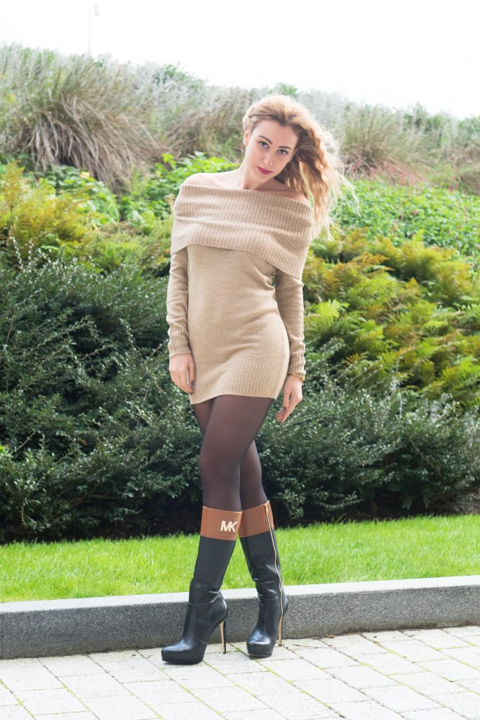ZLATINA BROWN DRESS-3