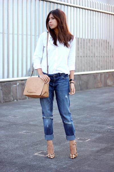 navy boyfriend jeans zara jeans white gap shirt tan zara. Black Bedroom Furniture Sets. Home Design Ideas